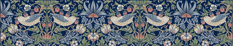 William Morris Strawberry Thief border tiles