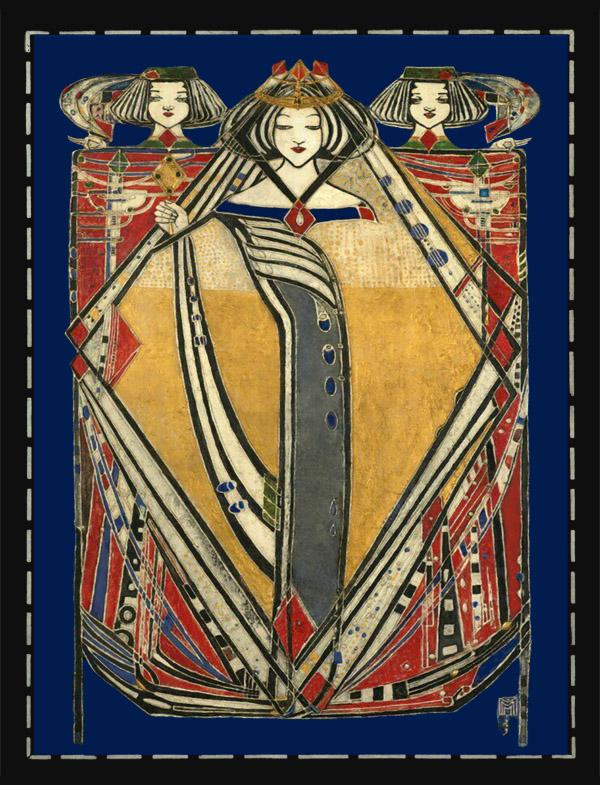 Margaret Macdonald Mackintosh 'Queen of Diamonds' tile