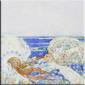 Mermaid Backsplash detail