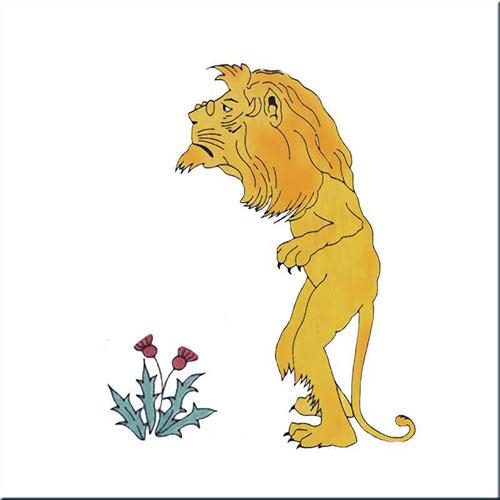 The Lion, Alice in Wonderland tiles, by CFA Voysey, 1890