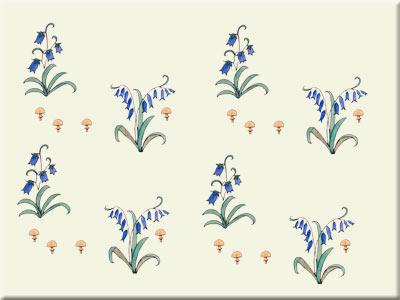 CFA Voysey Alice in Wonderland bluebell field tile