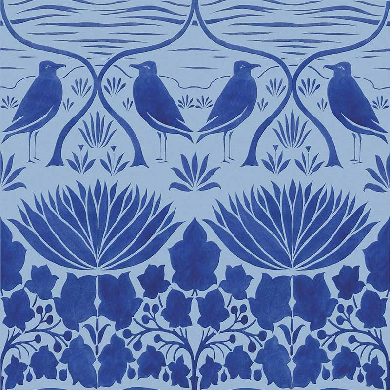 CFA Voysey bluebirds, original background color