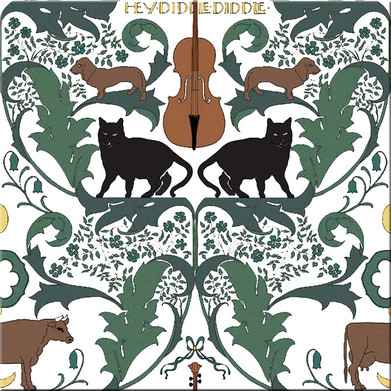 CFA Voysey, Hey Diddle Diddle dark with black cats