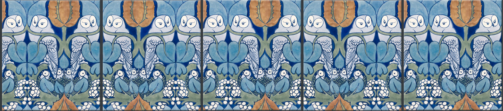 CFA Voysey tiles: Hoot border tiles