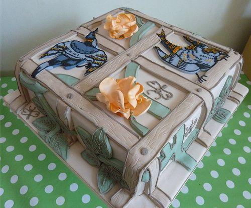 William Morris Bird and Trellis cake by Emily