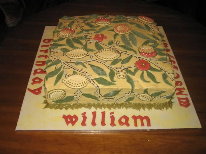 William Morris Birthday Cake 2006, Fruit pattern, lemon curd filling, William Morris Society of Canada