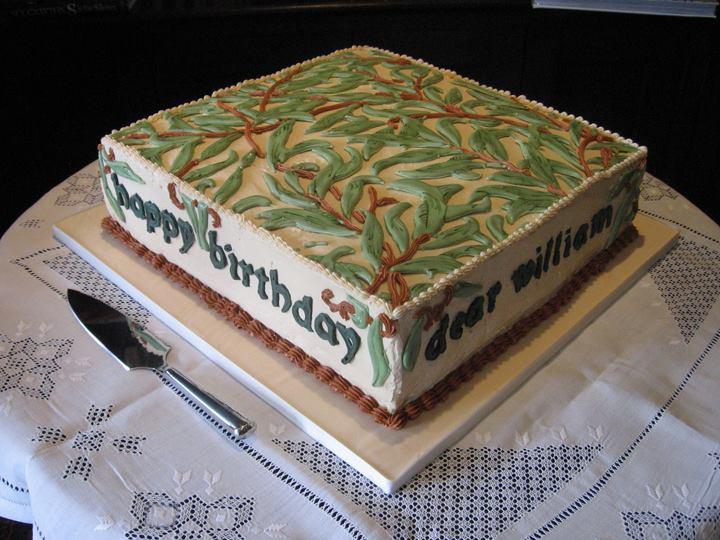 William Morris Birthday Cake 2010, Willough Boughs, William Morris Society of Canada