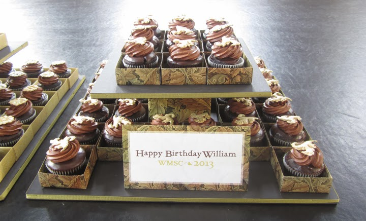 2013 cupcakes, ganache and chocolate frosting, icing ornaments in Acanthus, Marigold, and Willow Bough
