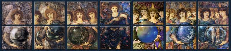 Half-panel tiles of Days of Creation Angels