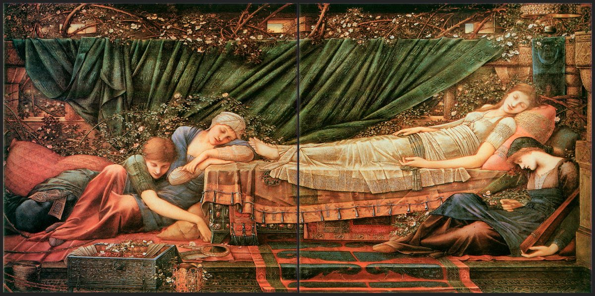 Edward Burne-Jones Briar Rose, the Rose Bower