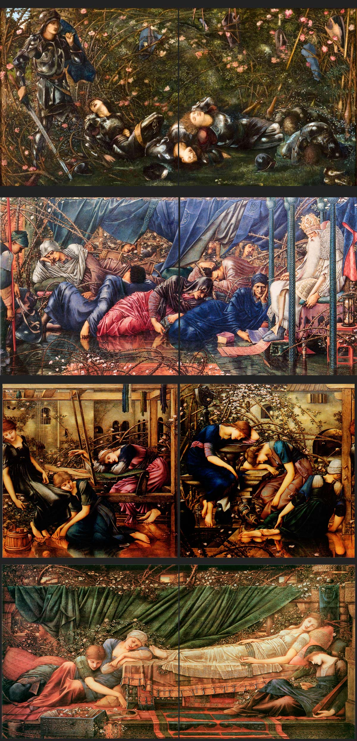 Briar Rose Tile Panels Edward Burne Jones Story Tiles