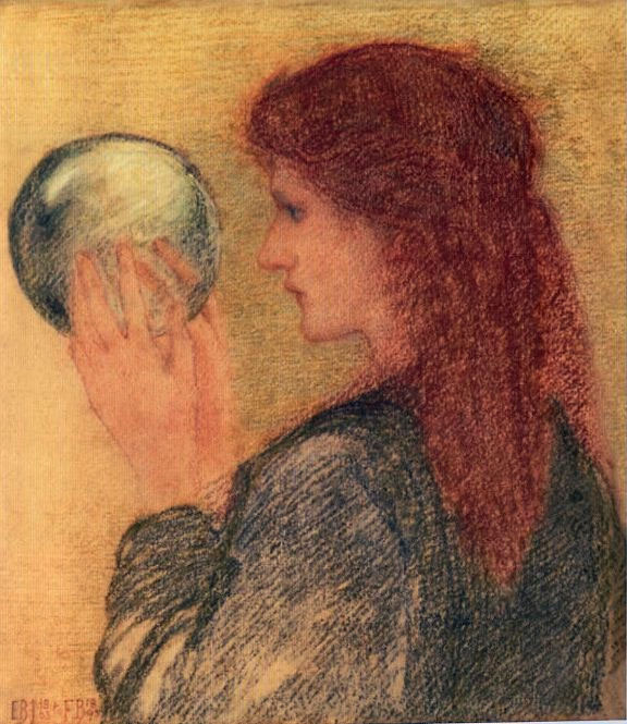 Study for Astrologia, done in pastel by Edward Burne-Jones