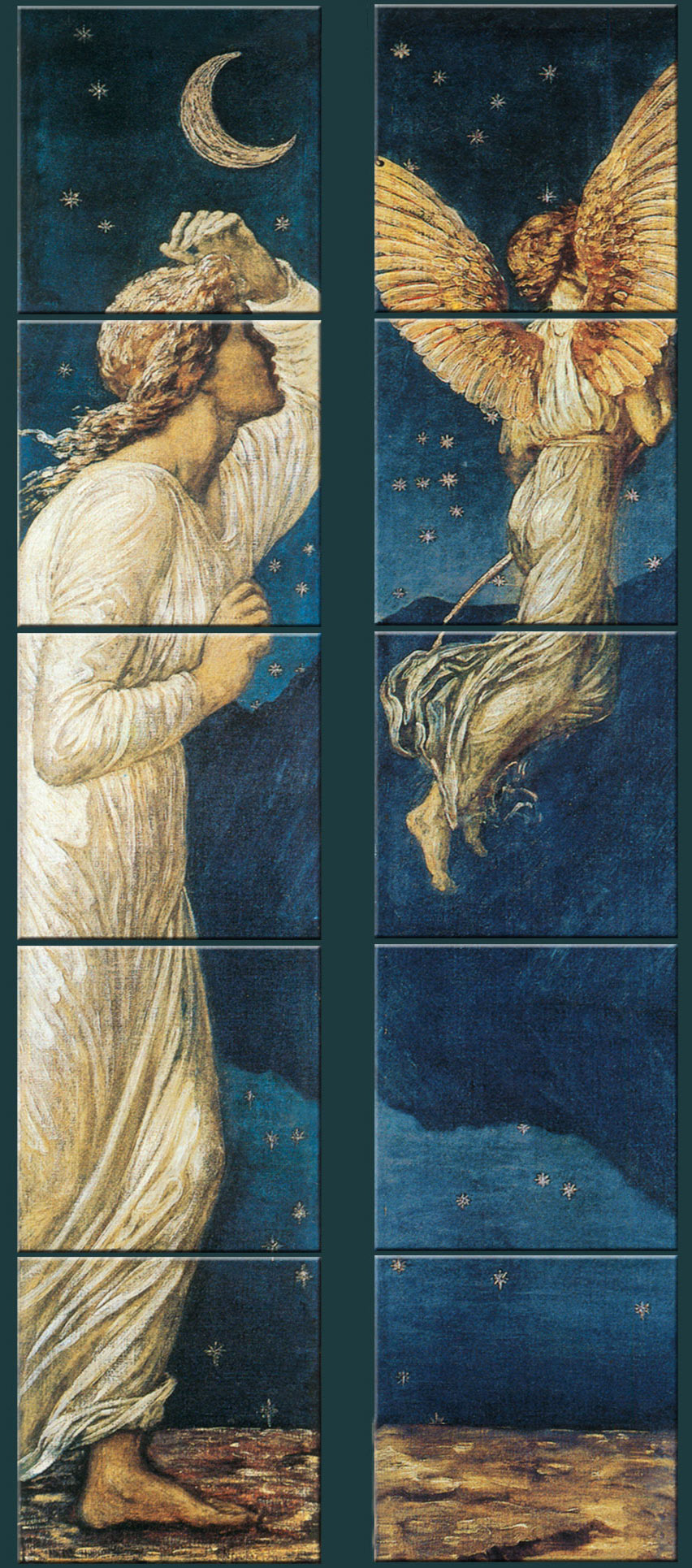 Edward Burne-Jones Cupid and Psyche fireplace panels.