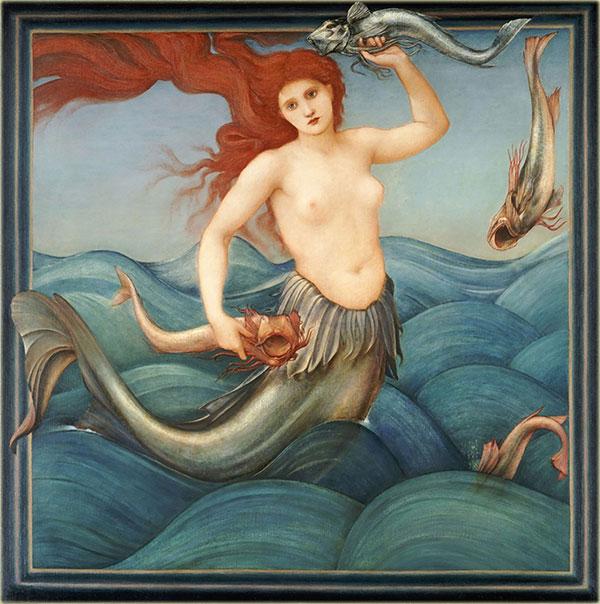 Edward Burne-Jones mermaid tile