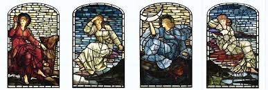 Edward Burne-Jones, Stars and Planets tiles, WilliamMorrisTile.com