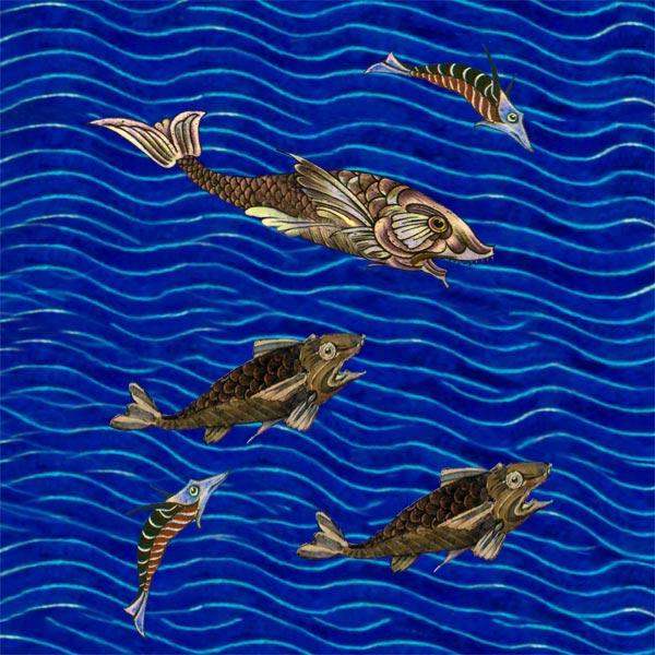 William De Morgan Companion Fish.