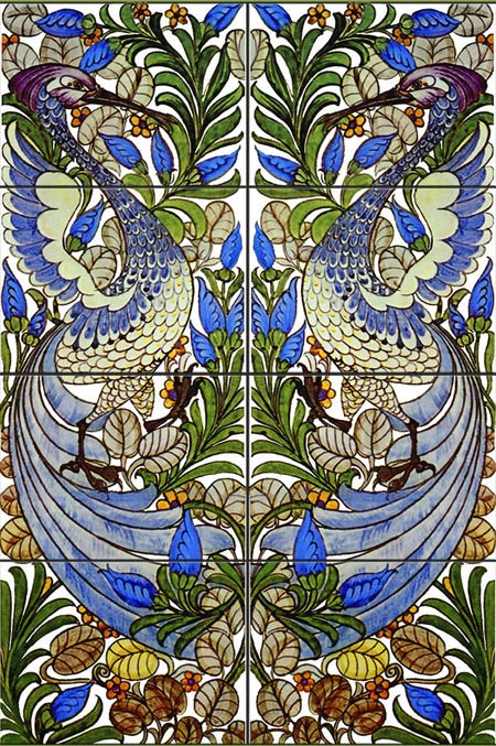 William De Morgan Fantastic Birds