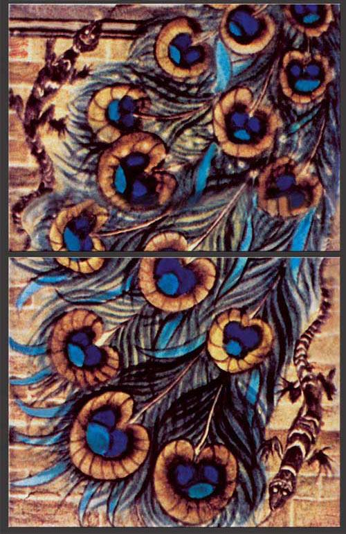 William De Morgan peacock_and_salamander detail