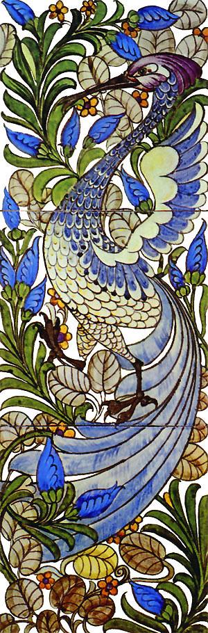 William De Morgan, Fantastic Bird fireplace panel