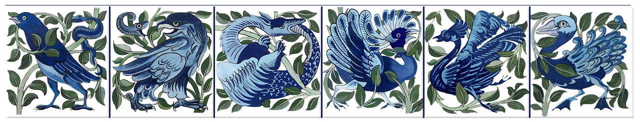 William De Morgan Persian Garden of Fantastic Birds