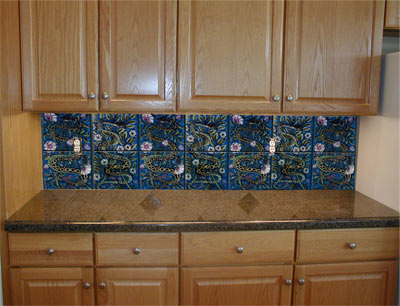 William De Morgan Persian Serpents backsplash