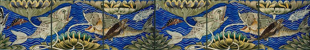 William De Morgan Persian Fish Frieze