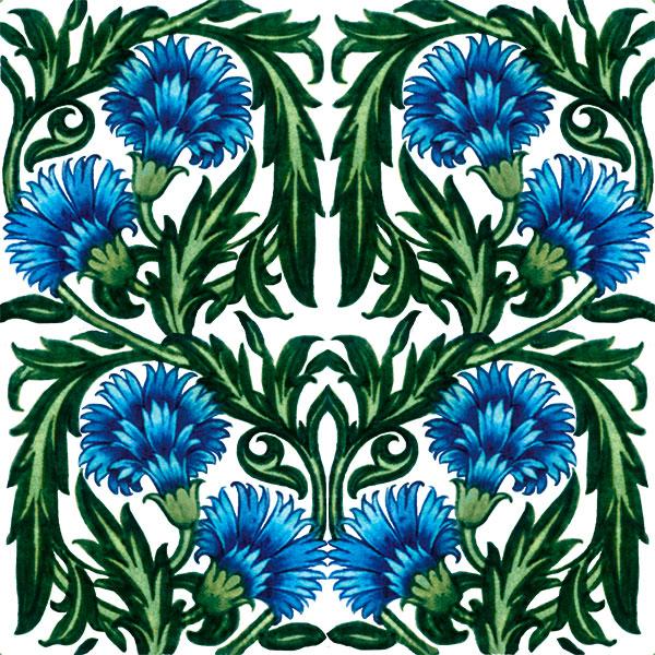 De Morgan Blue Carnations