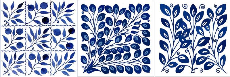William De Morgan floral field tiles