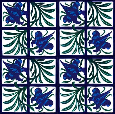 William Morris Tulip and Trellis tiles