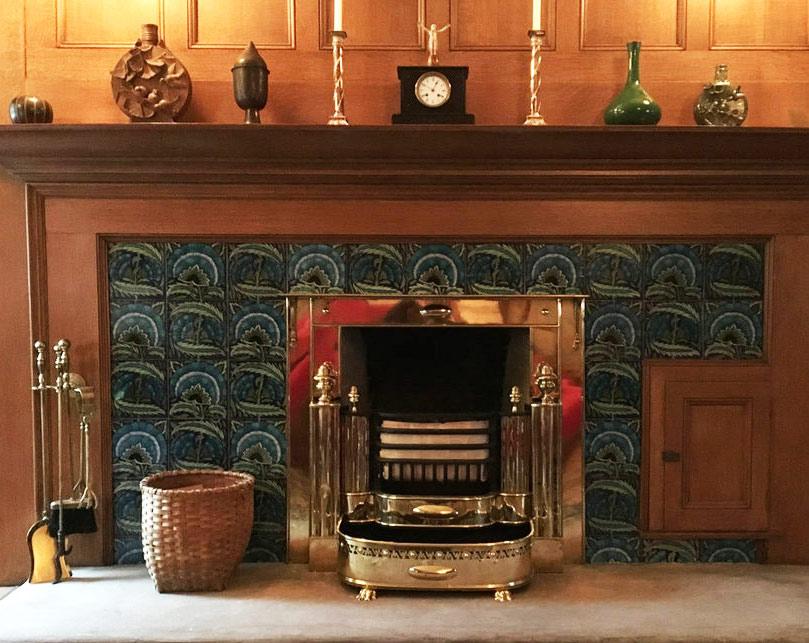 Glessner House, Bedroom fireplace