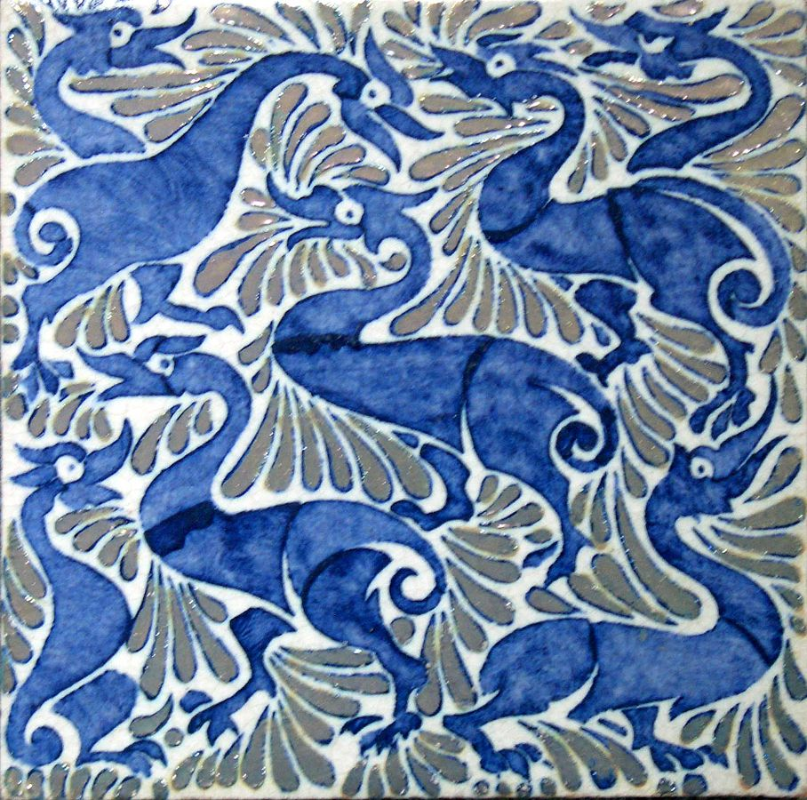 De Morgan Fulham ducks tile, Wikipedia