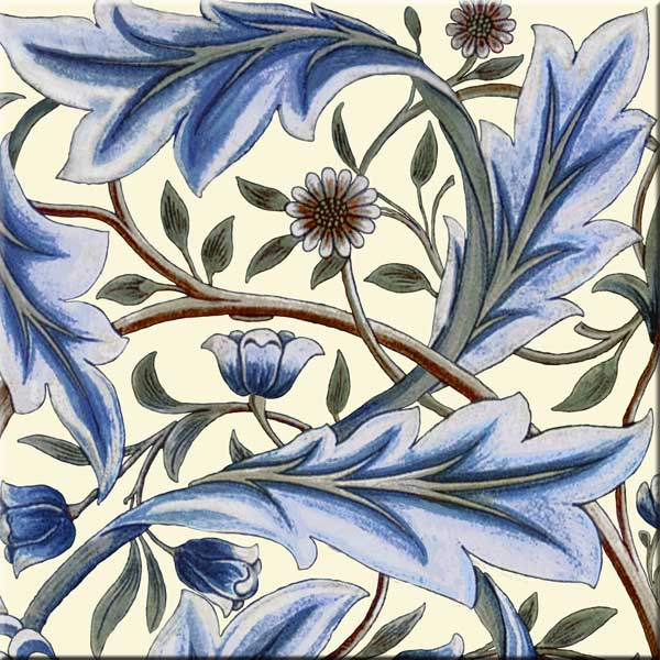 William Morris Membland Cream sample tile