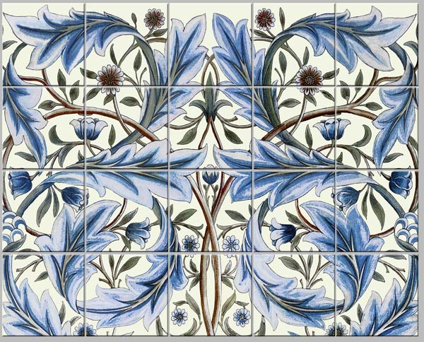 Membland small panel for backsplash, cream background