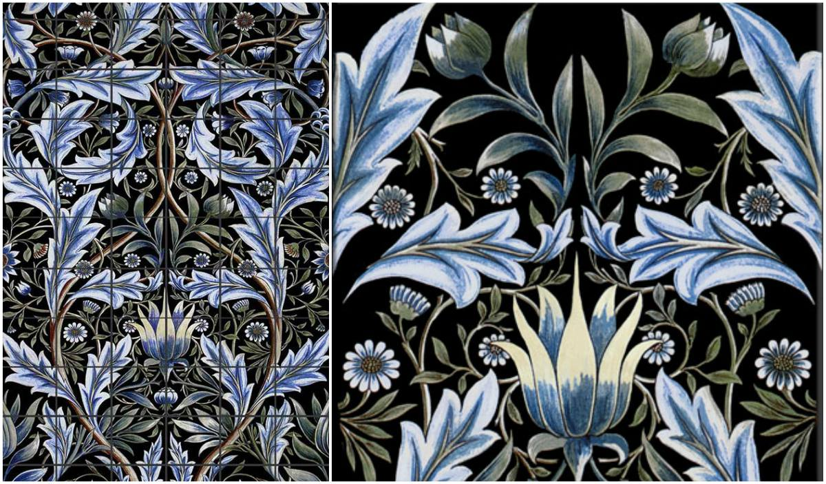 William Morris, Membland Tile panel detail