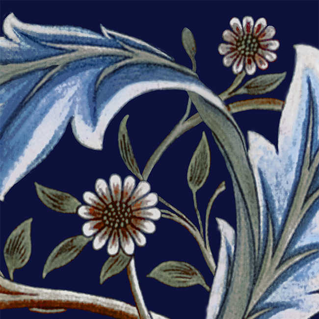 William Morris Membland Indigo sample tile