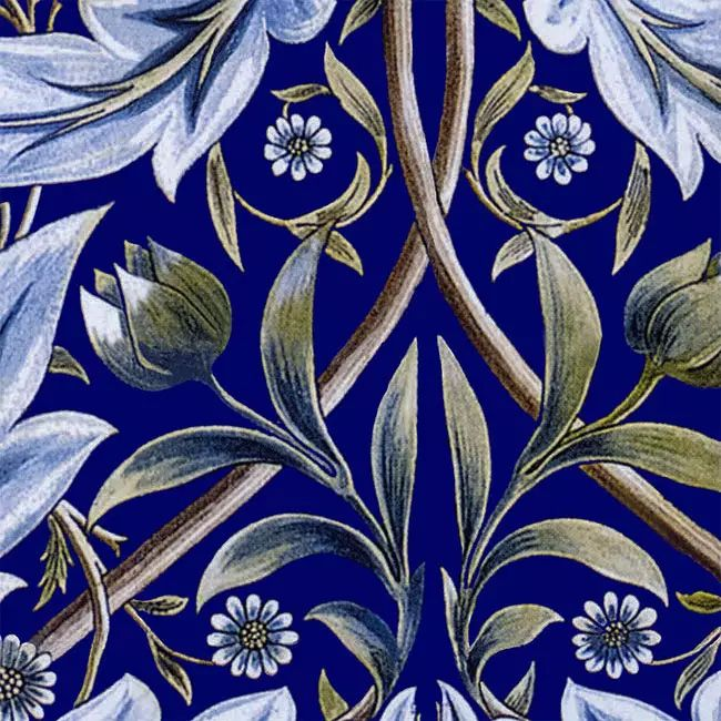 William Morris Membland Cobalt sample tile