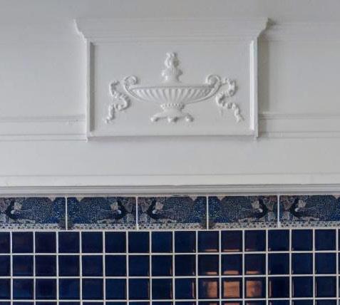 William De Morgan Peacock Border Fireplace