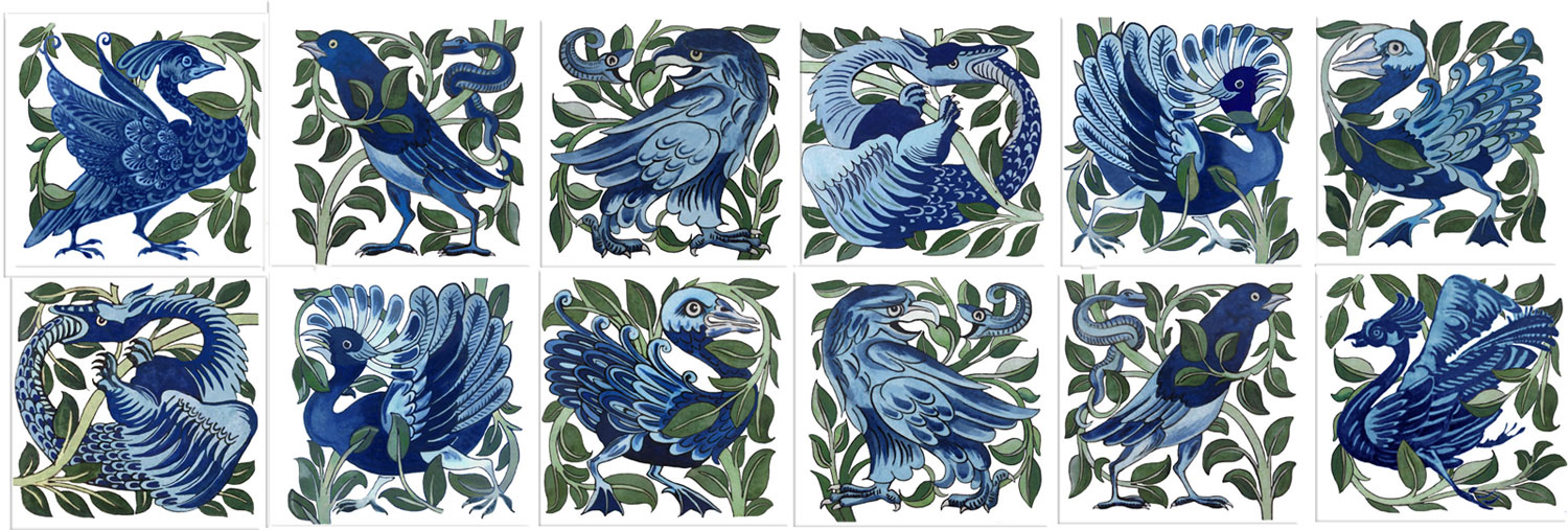 William De Morgan, A Garden of Fantastic Birds