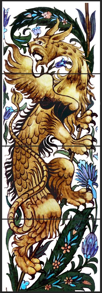 William De Morgan, Winged Beast or Gryphon