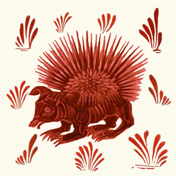 William De Morgan, red lustre hedgehog