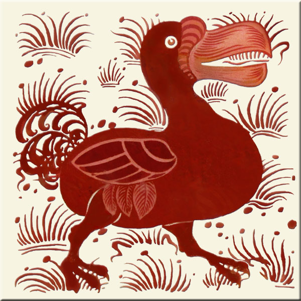 Lewis Carroll fireplace Dodo with grasses