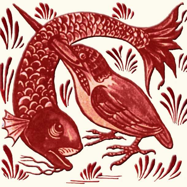 Lewis Carroll fireplace: Hunting Kingfisher