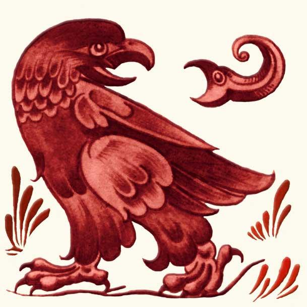 William De Morgan Red Lustre Eagle and Snark