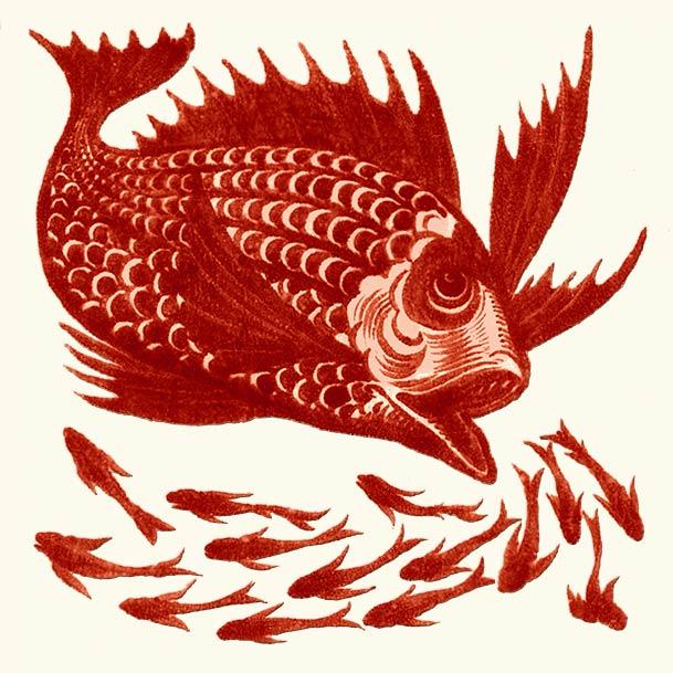 William De Morgan, School of Fish