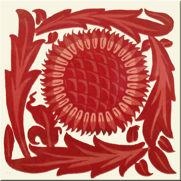 William Morris red lustre early sunflower
