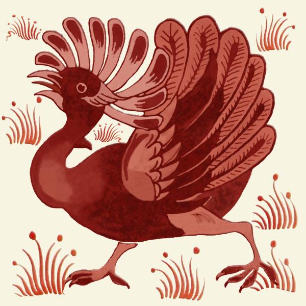 De Morgan red lustre fantastic bird