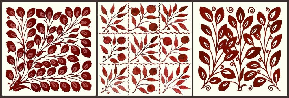 William De Morgan red lustre foliage