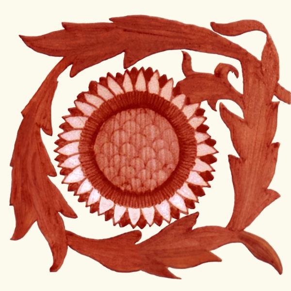 William De Morgan and William Morris red lustre sunflower