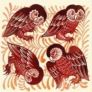 William De Morgan barn owls