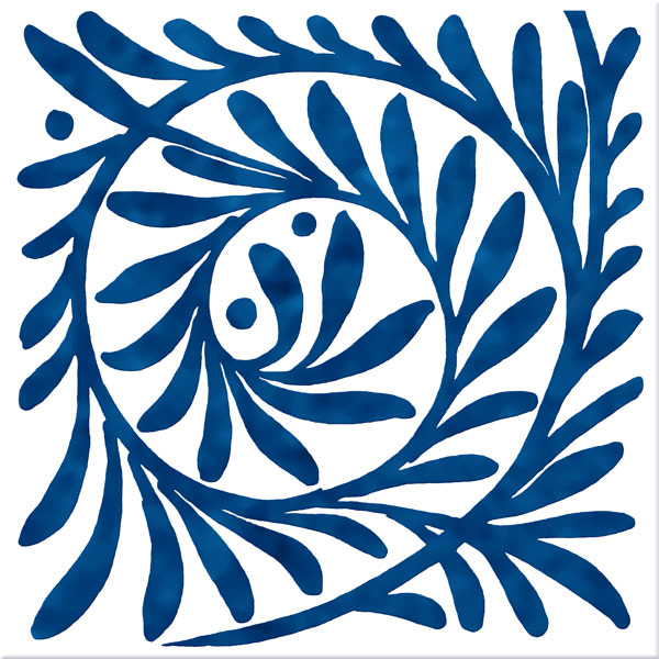 William De Morgan Blue Leaf Scroll, closed